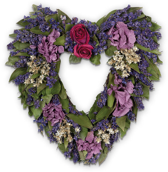 Rose & Hydrangea Heart Wreath