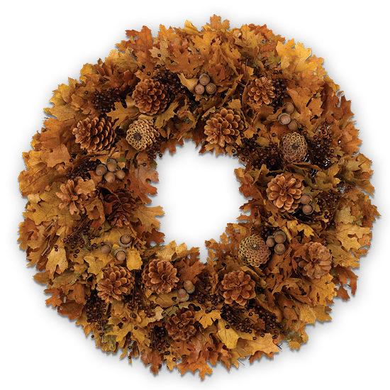 Amber Glow Wreath