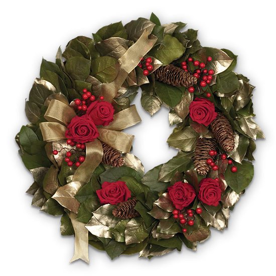 Golden Noel Wreath