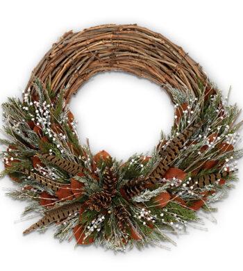 Autumn Feathers Wreath