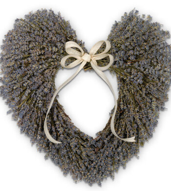 Fragrant Lavender Heart Wreath