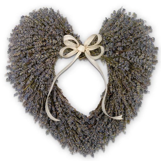 Fragrant Lavender Heart Wreath