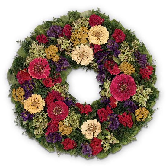 Bold Zinnia Wreath