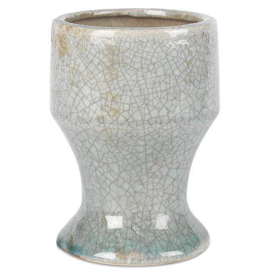 Grey Crackled Ceramic Vase
