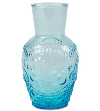 Petite Aquamarine Blue Flourish Vase