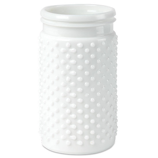 Hobnail Milk Glass Vase