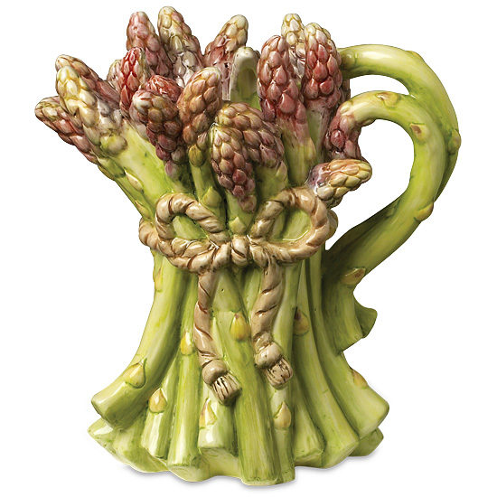Hand-Painted Asparagus Pitcher