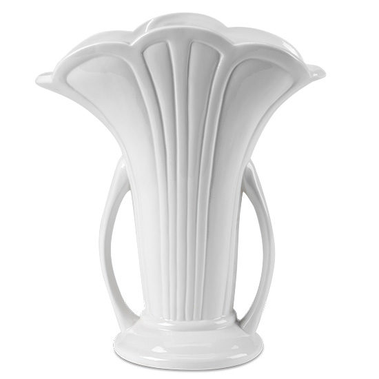 White Ceramic Scallop Vase