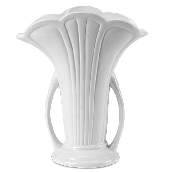 White Ceramic Scallop Vase