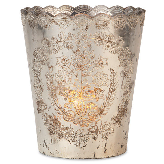 Silver Pressed Glass Vase