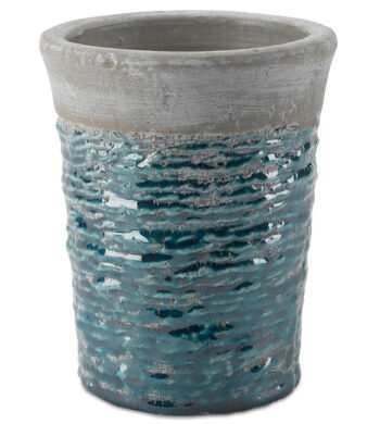 Blue Textured Ceramic Vase