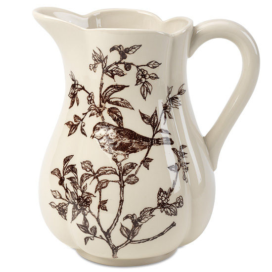 Bird Toile Pitcher