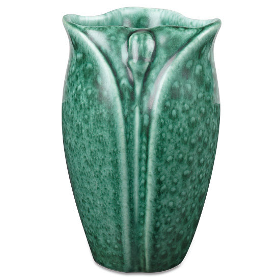 Malachite Green Petal Vase