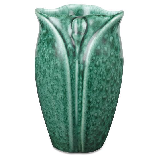 Malachite Green Petal Vase