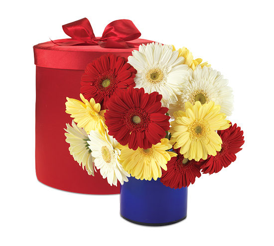 Cheerful Days Hatbox Bouquet