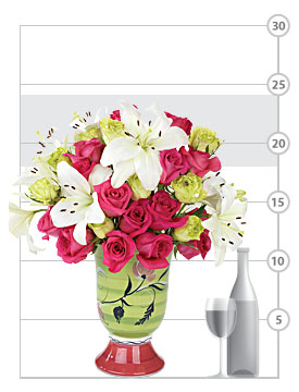 Aria Roses & Lilies in Wine Chiller