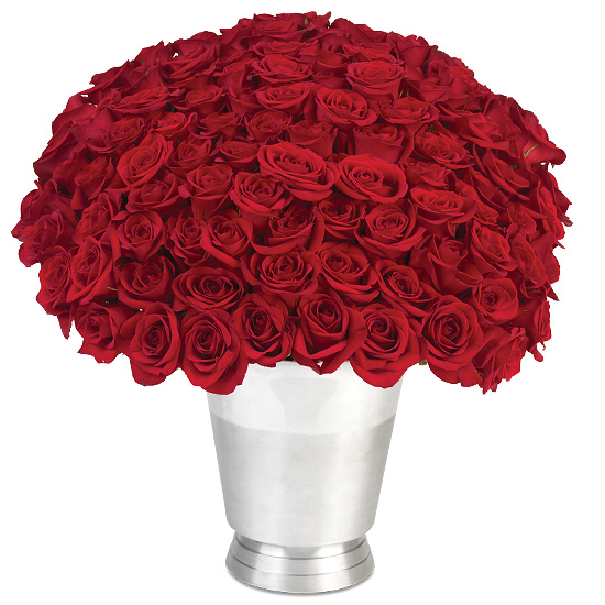 100 Roses Bouquet Red Long Stemmed Roses