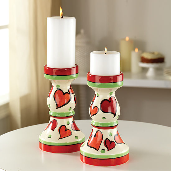 Two Hearts Candlesticks