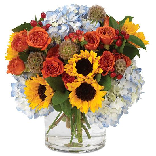 Fresh Harvest Bouquet in Glass Vase