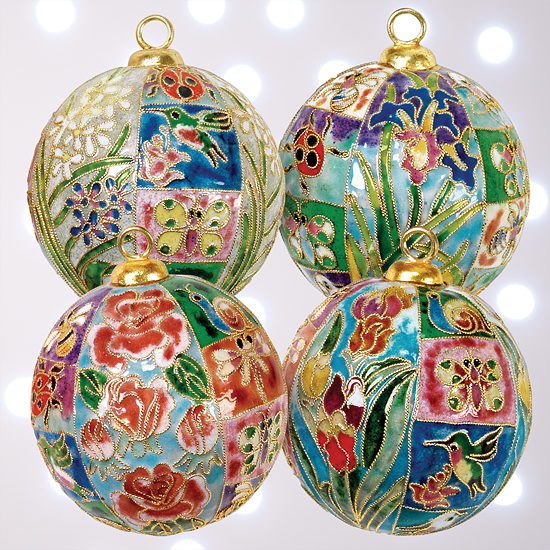Enameled Mosaic Ornaments