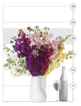 Colorblock Stock Bouquet