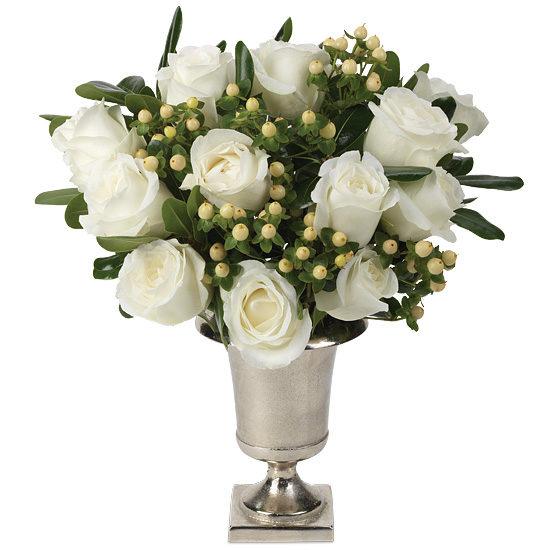 Timeless White Roses with vase