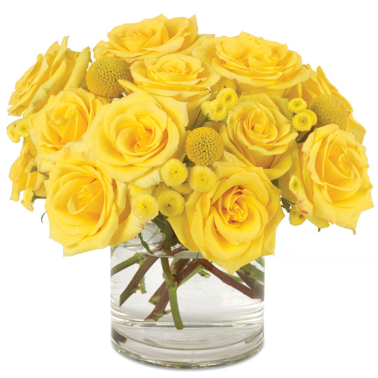 Lemon Twist Bouquet with signature glass vase