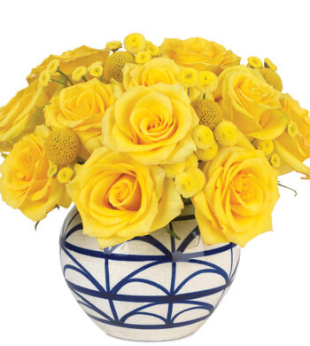 Lemon Twist Bouquet with vase
