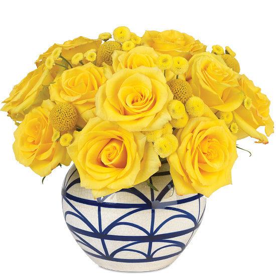Lemon Twist Bouquet with vase