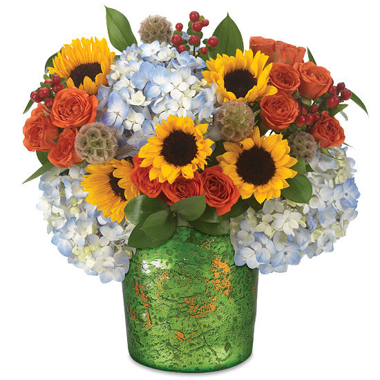 Fresh Harvest Bouquet with Sunflowers and Ruscus
