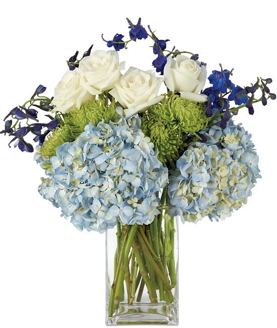Sheffield Blue Bouquet - Calyx Flowers, Inc