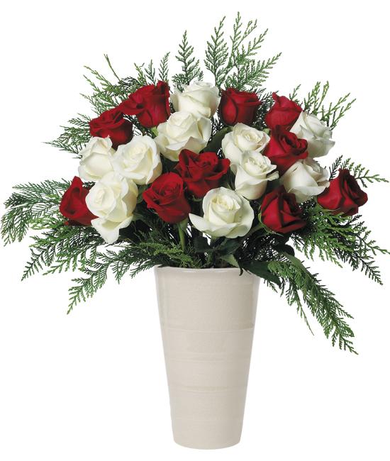 Dec - Candy Cane Rose Bouquet