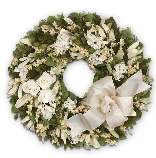 Feb - Ivory Rose Wreath
