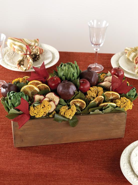 Oct - Heirloom Fruit & Vegetable Centerpiece