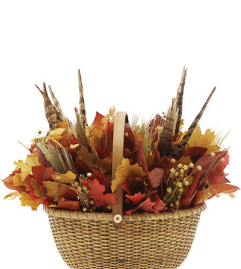 Walk in the Woods Centerpiece in Wicker Basket