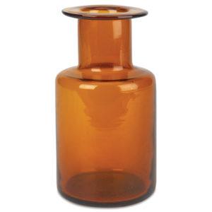 Vintage Inspired Amber Glass Vase
