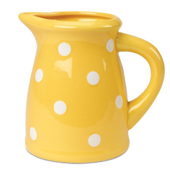Sunburst Yellow Ceramic Pitcher
