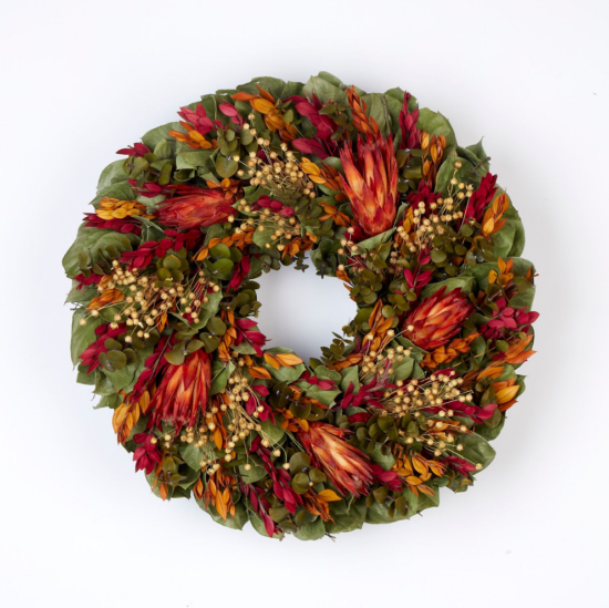 Oct - Indian Summer Protea Wreath