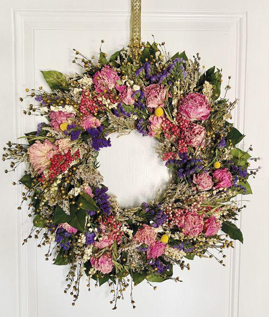 May - Jun - Peony Wreath
