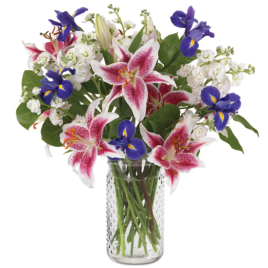 Scent of Spring Bouquet with signature glass vase