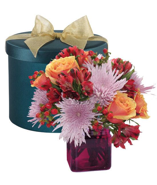 Amethyst Hatbox Bouquet