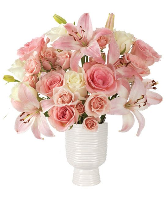 Spring Fling Bouquet - lilies and Roses