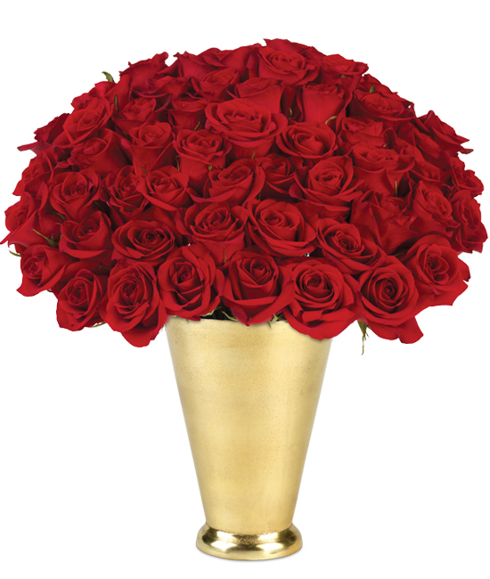 50 Red Roses Bouquet - Long Stem Roses | Calyx Flowers