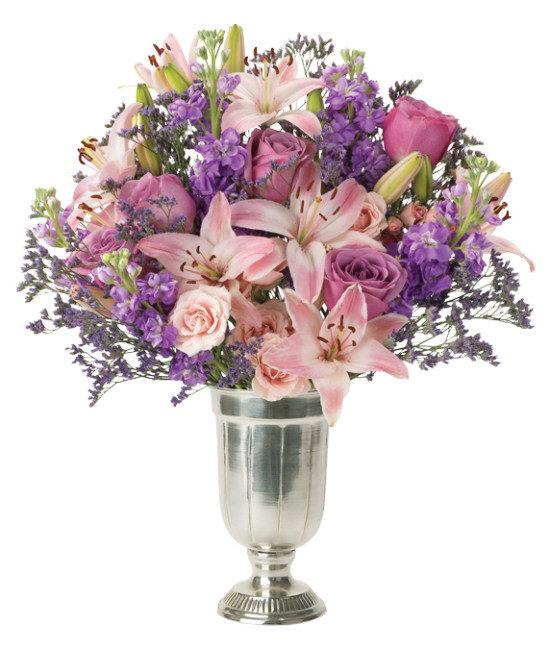 Limonium, Lavender, Majolica Roses, Asiatic Lilies