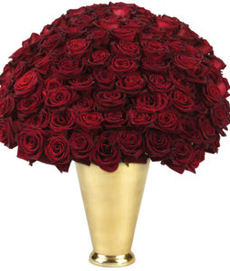 100 Black Baccara Roses Bouquet