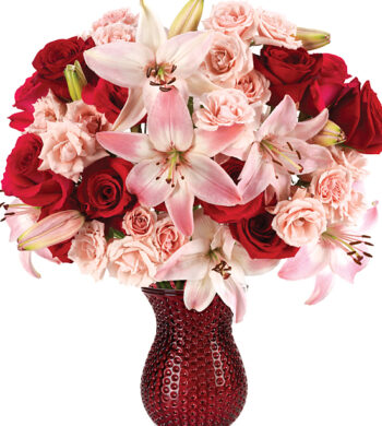Florist In Amherst Flower Delivery Show How Your Love Shines With Our Sparkling Heart Bouquet