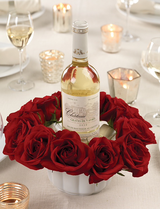 Red Rose Bowl Centerpiece