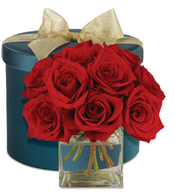 Red Roses Hatbox Bouquet