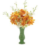 Spring Promenade Orchids with vase