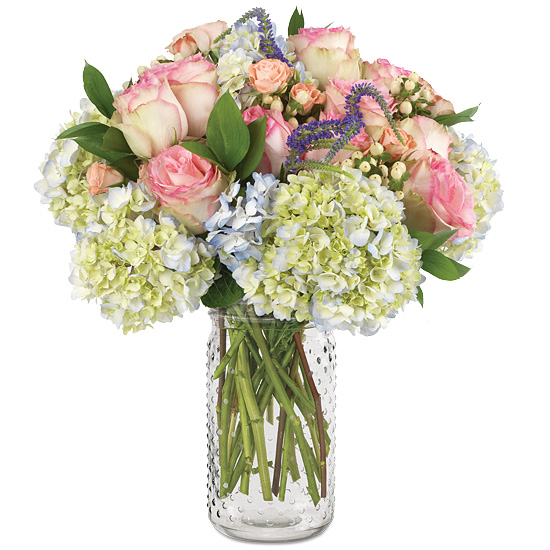 Mother's Day Melody Bouquet with signature glass vase